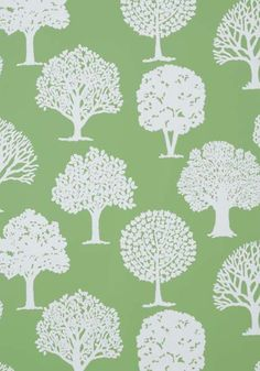 Russell Square Green by Thibaut - Green - Wallpaper : Wallpaper Direct Green Wallpaper, Print Wallpaper, New Wallpaper, Fabric Wallpaper, Foyer Wallpaper, Wallpaper Ideas, Russell Square, Tree Silhouette, Graphics