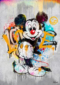 Graphic Design Art, Disney Art Drawings, Mickey Mouse Art, Disney Pop Art, Art, Cute Disney Wallpaper, Art Wallpaper Iphone, Pop Art, Iphone Wallpaper Vintage