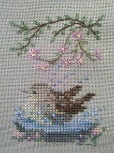 Thrilling Designing Your Own Cross Stitch Embroidery Patterns Ideas. Exhilarating Designing Your Own Cross Stitch Embroidery Patterns Ideas. Cross Stitch Needles, Cross Stitch Bird, Cross Stitch Animals, Cross Stitch Flowers, Cross Stitch Charts, Cross Stitch Designs, Cross Stitching, Cross Stitch Patterns, Simple Embroidery