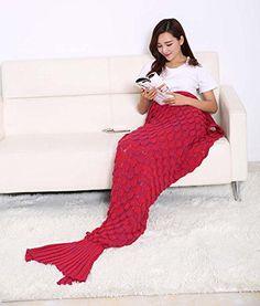 mermaid blanket red color
