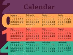 Printable Pocket Calendar 2014 (RO) by Madalina Taina, via Behance