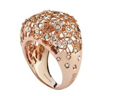 Damiani rose gold ring
