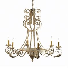 Arizona Chandelier in French White by Ella Home Available at Mayer Lighting Showroom www.mayerlighting.com