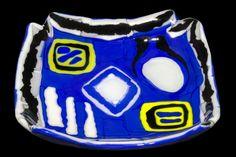 'Matissean Blu' - peça única e assinada, em vidro artesanal importado.   R$375.00 Clique na foto p/ entrar na página da peça e ver mais fotos e informações como tamanho.