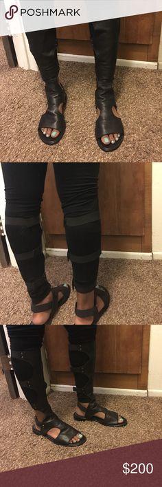 Leather gladiator sandals Black gladiator sandal from Sacs 5th worn once Stuart Weitzman Shoes Sandals