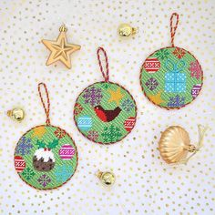 It's the holiday season!! Celebrate with our Christmas Rounds!! xxK&B #needlepoint