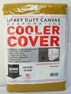 42″W x 42″D x 54″H Down Draft Heavy Duty Canvas Cover for Evaporative Swamp Cooler (42 x 42 x 54)