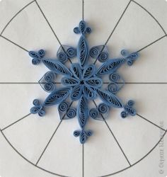 quilled snow flake - i really like this Russian site
