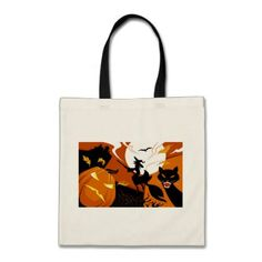 #Happy Halloween witch bats and pumpkins Tote Bag - #Halloween happy halloween #festival #party #holiday