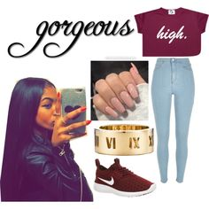 A fashion look from October 2015 featuring River Island leggings, NIKE sneakers y Tiffany & Co. rings. Browse and shop related looks.