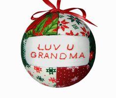 Grandma Christmas Ornament by craftcrazy4u on Etsy, $12.95