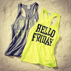 Victoria's Secret PINK Tanks- great for beachin' or gymin' it