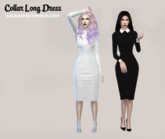 salem2342:  Collar Long Dress (TS4)standalone3 colorsmesh edited by meDOWNLOAD