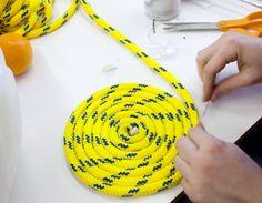 Make A Climbing Rope Rug. Www.newriverclimbingschool.com