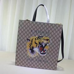 727ef0f4376 Tiger Print Soft GG Supreme Tote 450950