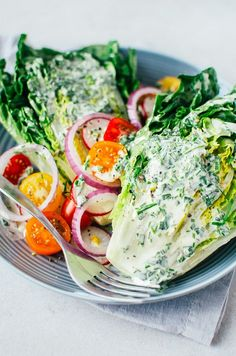 Little Gem Wedge Salad with Herb Dressing
