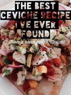 My wife and I found the best ceviche recipe in the known universe at a little beach bar in Mexico. I did this using frozen tilapia fillets I already had in the freezer and lemon and lime juice from concentrate and it turned out great! Fish Recipes, Seafood Recipes, Mexican Food Recipes, Appetizer Recipes, Cooking Recipes, Healthy Recipes, Appetizers, Cooking Stuff, Sashimi