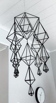 Lämmin ilo: Joulunaikaa Straw Sculpture, Handmade Ornaments, Suncatchers, Wind Chimes, Crafty, Low Poly, Christmas Stuff, Mobiles, Creative