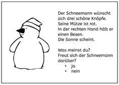 Lesemalblätter: Schneemann - abcund123