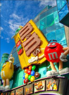 There is an M&M World in of all places - Las Vegas. In fact, it's on the strip, right next door to the MGM Grand Casino. The key feature is. Las Vegas Vacation, Vacation Spots, M & M Store, Las Vegas With Kids, Fun Places To Go, Las Vegas Nevada, Hotels And Resorts, Luxury Hotels, Candyland