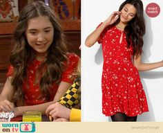 4e10a6450a2 Riley s red floral dress on Girl Meets World. Outfit Details  http