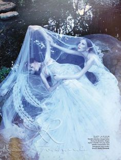 Euphorie Chanson d'Amour on Harper's Bazaar Indonesia Wedding Ideas | wedding gown and veil by Rusly Tjohnardi Atelier | crown by Heliopolis | Fashion Editor Michael Pondaag | Photo by Marsio Juwono | Makeup & Hair by Husein Yunior #weddinggown #wedding #bridal #hautecouture #couture