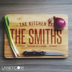 This customized cutting board would be a wonderful wedding present!