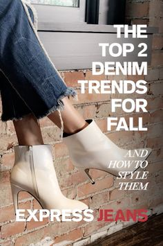 Master this season's hottest denim trends with these easy hacks. For zip hem jeans, balance out the hardware with a feminine top. For an edgier spin on fall, pair your lace-up jeans with a plunging lace-up V-neck tee.