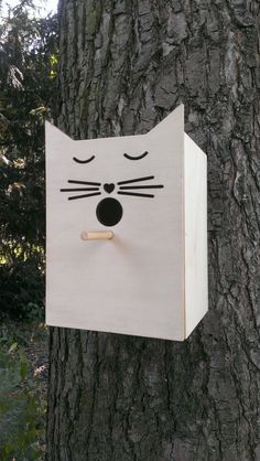 Bird House Cat van shabbywithchic op Etsy, €24,95