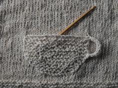 one sheepish girl  knitted teacup pocket