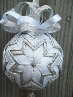 ribbon ball ornament
