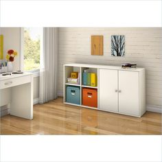 South Shore Stor It 2 Piece Storage Unit in Pure White - 505077X-2PKG - Lowest price online on all South Shore Stor It 2 Piece Storage Unit in Pure White - 505077X-2PKG