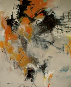 """#9 Tolerate Chaos 60""""hx48""""wx1.5""""d Acrylic on Canvas Jinnie May"""