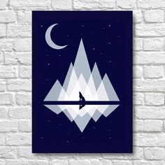 Geometric Mountain Landscape With Wolf by Moonlight - A4 Surreal Art Prints - Surreal Wall Art - Surrealism Wall Decor Use Coupon Code : ONEFREE to save £5.95(one free print) when you spend over £17.50 in my store. effectively Buy 2 prints and get a 3rd FREE Item Description Surreal Wall Art Poster Prints. Quality and Details Paper: All posters are printed on Olmec(Innova) Photo Lustre 260gsm, instant dry, fade resistant microporous coated heavyweight RC paper. acid free and...