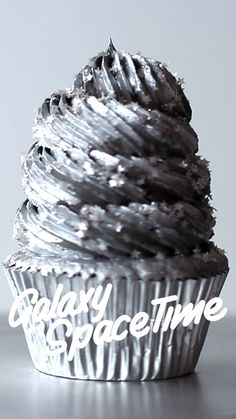 Houston, we're sending this chocolate cupcake to space.  SERVINGS: serving time12  INGREDIENTS Cupcakes  50g cocoa powder  175g all-purpose flour  ½ tsp salt  ½ tsp bicarbonate of soda  225g caster sugar  175g unsalted butter, softened  2 large eggs, at room temperature  175ml milk  Frosting  1 batch chocolate Swiss meringue buttercream frosting  5 drops black food gel