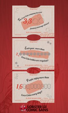 Coca-Cola Promo Cards - Lobster is the new Comic Sans #lobsteristhenewcomicsans