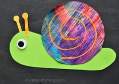 Colorful Newspaper Snail Craft   I Heart Crafty Things