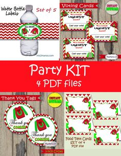 Tacky Sweater Party Kit Ugly Christmas Sweater by M2MPartyDesigns
