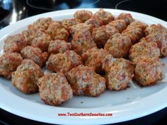 Two Southern Sweeties   Lip Smacking Good Sausage Balls  www.TwoSouthernSweeties.com  #TwoSouthernSweeties
