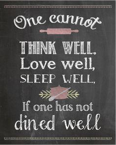 Kitchen Printable - Virginia Woolfe Quote {www.homemadeinterest.com}