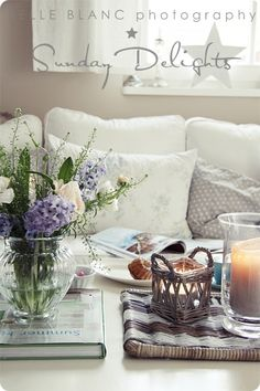 Love the little candle basket on the table