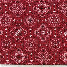 CCT4-26 Red Bandana Fabric - hobby lobby