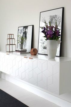 Beyond the IKEA Hack. Innovative companies create something new using IKEA furniture. Learn some of the ways they're taking IKEA furniture to the next level. Floating Cabinets, Ikea Cabinets, Ikea Furniture, Furniture Design, Furniture Handles, Custom Furniture, Painted Furniture, Ideas Decoracion Salon, Home Living Room