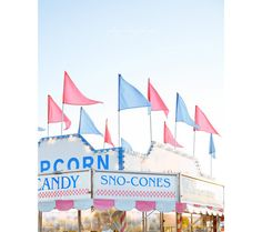 Popcorn and Sno-Cones Stand Pastel Photography, Dreamy Photography, Fine Art Photography, Sno Cones, Carnival Rides, New Theme, Cool Artwork, Cool Pictures, Random Pictures