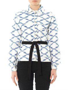 Isabel Marant Étoile Nadia ikat tie-belt jacket Traditional Fabric, Ikat Fabric, Belt Tying, Isabel Marant, Tie, Hoodies, Sweaters, Jackets, Outfits