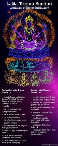 Lalita Tripura Sundari, Goddess of Erotic Spirituality Hindu Art, Shiva Hindu, Hindu Rituals, Shiva Shakti, Sacred Feminine, Hindu Deities, Indian Gods, Indian Art, Gods And Goddesses