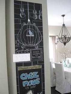 "Adhesive chalk board ""paint"""
