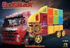 Click Block Megbot 2D Magnetic Toy - Truck