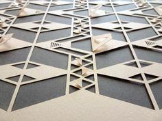 Ame Design - amenidades do Design . blog: Padrão com corte e dobras