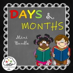 Days and Months Mini Bundle by Grow Learning | Teachers Pay Teachers Inquiry Based Learning, Project Based Learning, Early Learning, Kids Learning, Teaching Methods, Teaching Resources, Teaching Ideas, Kindergarten Curriculum, Homeschool Curriculum